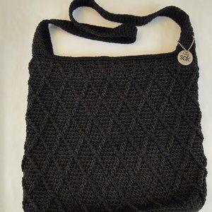 The Sak Black Knit Crocheted Handbag